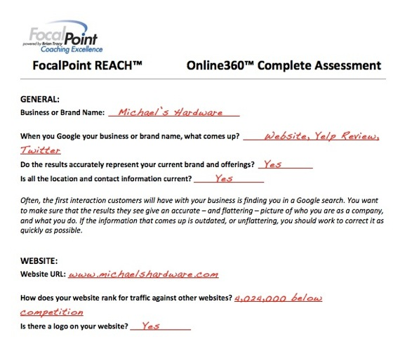 Online360 Assessment sample